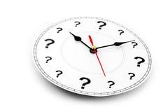 Orologio del punto interrogativo immagini stock