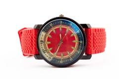 Orologio del ` s dell'uomo rosso Immagine Stock Libera da Diritti