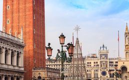 ` Orologio Dell башни с часами, или Torre, Венеция, Италия Стоковые Изображения