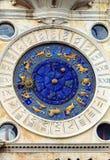 ` Orologio Dell башни с часами, или Torre, Венеция, Италия Стоковое фото RF