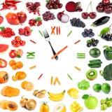Orologio dell'alimento Fotografia Stock
