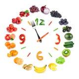 Orologio dell'alimento Fotografia Stock Libera da Diritti