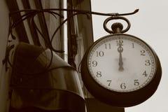 Orologio dell'annata Fotografia Stock Libera da Diritti