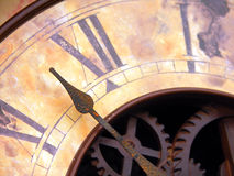 Orologio dell'annata con le mani Immagini Stock