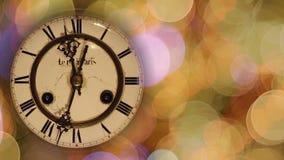 Orologio dell'annata di Natale archivi video