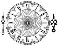 Orologio dell'annata di vettore Immagini Stock Libere da Diritti
