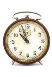 Orologio dell'annata su bianco Fotografie Stock Libere da Diritti