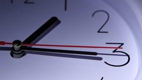 Orologio dell'ufficio del primo piano, quadrante delle ore, movimento lento archivi video