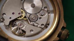 Orologio dell'URSS del movimento a orologeria archivi video