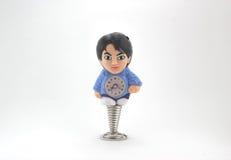 Orologio della bambola dell'uomo Fotografie Stock
