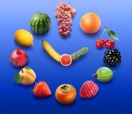 Orologio della frutta Immagine Stock