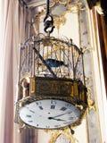 Orologio della gabbia per uccelli Fotografia Stock