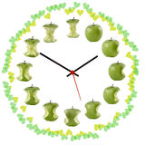 Orologio-della mela Lizenzfreie Stockfotos
