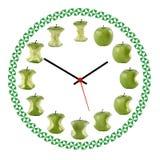 Orologio della mela Royalty Free Stock Images