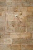 Orologio della meridiana a Barcellona, Spagna Immagini Stock Libere da Diritti