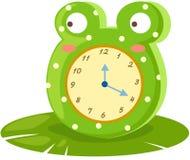 Orologio della rana Fotografia Stock Libera da Diritti
