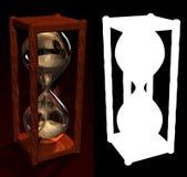 Orologio della sabbia con l'alfa Fotografia Stock