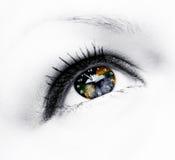 Orologio della terra in occhio Immagini Stock Libere da Diritti