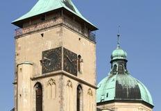 Orologio della torre Fotografia Stock