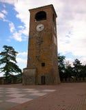 Orologio della torre di Castelvetro, Modena, Italia fotografia stock