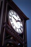 Orologio della torretta della città Fotografie Stock Libere da Diritti