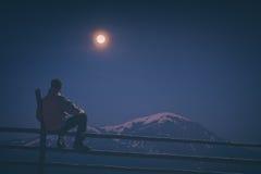 Orologio della viandante l'aumento della luna Stylization di Instagram Immagini Stock
