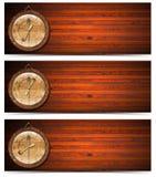 Orologio delle intestazioni del pranzo del pranzo della prima colazione Fotografie Stock Libere da Diritti