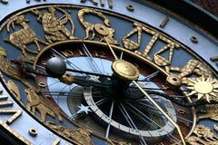 Orologio dello zodiaco Immagini Stock