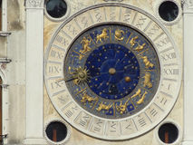 Orologio dello zodiaco a San Marco Square Immagine Stock Libera da Diritti
