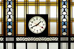 Orologio di Art Deco Stained Glass With Immagine Stock