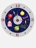 Orologio di Buon Natale Fotografie Stock