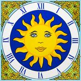 Orologio di ceramica Fotografie Stock Libere da Diritti
