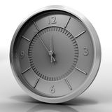 Orologio di Chrome su bianco Fotografia Stock Libera da Diritti