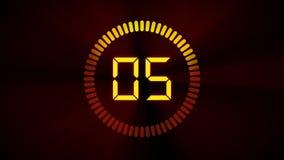 Orologio di conto alla rovescia illustrazione vettoriale