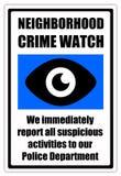 Orologio di crimine Fotografia Stock