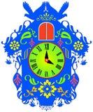 Orologio di cuculo variopinto Fotografia Stock Libera da Diritti