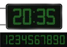 Orologio di Digitahi verde illustrazione vettoriale