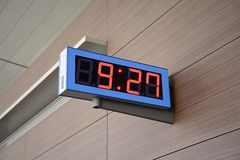 Orologio di Digital Fotografia Stock Libera da Diritti