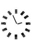 Orologio di domino Fotografie Stock