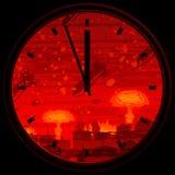 Orologio di giorno del giudizio universale Immagini Stock Libere da Diritti