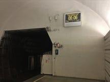 Orologio di intervallo in metropolitana fotografie stock