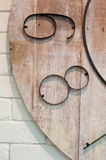 Orologio di legno Fotografia Stock