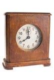 Orologio di legno antico dell'annata Immagini Stock