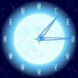 Orologio di luna illustrazione di stock