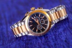 Orologio di lusso dell'uomo per la gente di affari Immagini Stock Libere da Diritti