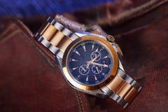 Orologio di lusso dell'uomo per la gente di affari Fotografia Stock Libera da Diritti