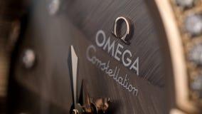 Orologio di marca di Omega stock footage