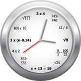 Orologio di matematica illustrazione vettoriale