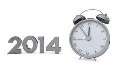 Orologio 2014 di Natale Immagini Stock Libere da Diritti