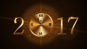 Orologio di nuovo anno felice Immagini Stock